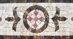 Pedra artesanais decoração com mosaicos de azulejos de fronteira para parede e decoração de piso