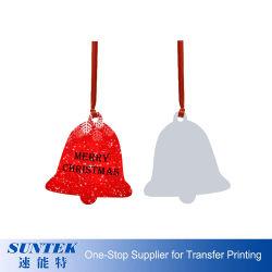 De goedkope MDF van Kerstmis Houten Foto van de Overdracht van de Hitte van de Klok van het Ornament van de Sublimatie Lege Hangende Kleine Goede