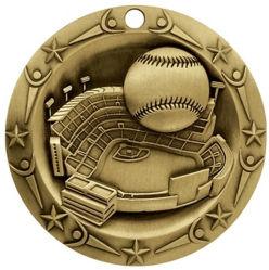 Liga de Design Personalizado Antique Gold Medal of Honor 3D