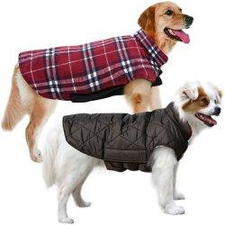 Dog casaco quente camada impermeável roupas de inverno