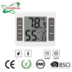 ساعة منبه LCD مع الرطوبة ودرجة الحرارة