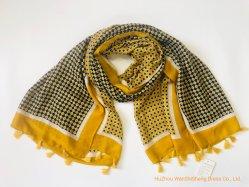 Fabrik-Preis Soem-Frauen-Form-Sprung-Sommer-Schal druckte langen Abblasdämpfer-Troddel-Verpackungs-Polyester-Schal