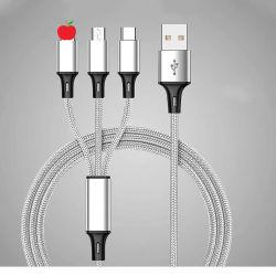Nylonflechten-Einspritzung geformtes Mikro, Typ-c aufladendaten-Kabel für alles Telefon