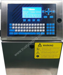 Stapel-Kodierung-Verfalldatum-Drucken-Pharmaindustrie durch Trusty kontinuierlichen Drucker des Tintenstrahl-T700 Cij
