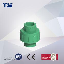Unión PPR (latón), con NP12.5/PN20/PN16/PN25 Tubo de plástico y adaptador de presión para agua caliente