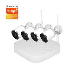 Le système de caméra CCTV 4CH 8CH Bullet NVR de qualité supérieure Kit DVR caméra de sécurité IP caméra vidéo de vision nocturne
