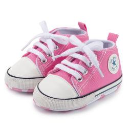 女の子の子供のズック靴のための新式のキャンバスの空想