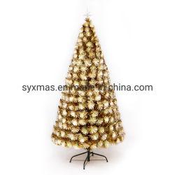 6FT Doppelt-Farbe optische Fiber-Optikweihnachtsbaum Vor-Lit mit LED-Licht-Festival Decrative Baum-starkem Metallstandplatz