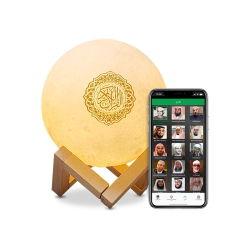 Don de la musique islamique Al Coran Stand Portable Mini lampe Touch lune Coran Le président avec l'app Remote pour Kid musulmane