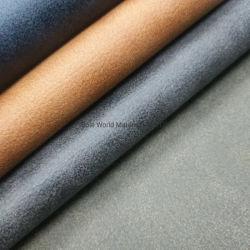 Material PU sintética cuero pu termo para la cobertura de la guarnición de cuero Bloc de notas