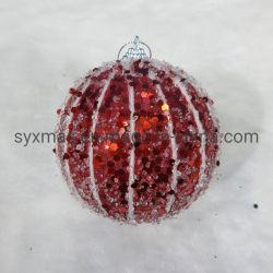 クリスマスの泡の球のクリスマスツリーはNoel党ホーム結婚披露宴の供給のためのハングの発泡スチロールのつまらないもののギフトを飾る