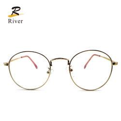 Het in het groot Frame van de Ontwerpen van het Metaal van de Glazen van het Oogglas Eyewear van de Manier Optische