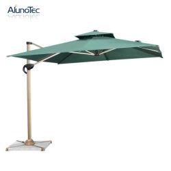 Tejido de poliéster resistente al viento de la sombrilla exterior patio jardín sombrillas Playa Romana en voladizo de plegado paraguas colgantes