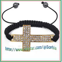 Effacer la croix de pierre cordon bracelet226-1 (CFF)
