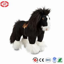 Angus-Plüsch-schwarzes stehendes weiches angefülltes Plüsch-Pferden-Spielzeug