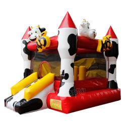 Bouncer inflável de salto comercial do castelo da vaca para os miúdos Chb738