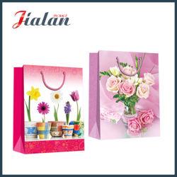 Bei fiori su ordine che imballano il sacco di carta del regalo dell'elemento portante di acquisto