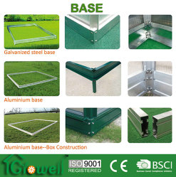 Effet de serre (de base en aluminium anodisé/Argent/vert) B-1