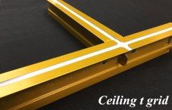 Raccord en T de la grille de plafond 32*24 barre T plate