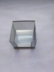 Accessori della scrivania del supporto dell'appunto della cancelleria della maglia del metallo