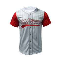 Healong Fashion Design guter Preis 100% Polyester Sublimation Herren Baseball Trikots