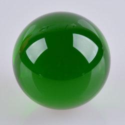 Comercio al por mayor de bola de cristal verde de la Decoración