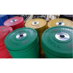 Gym Fitness Entrenamiento Olímpico de Crossfit levantamiento de pesas de la placa de peso de las placas de paragolpes PU
