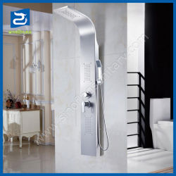 Popular baratos 304 acero inoxidable cepillado baño ducha grupo