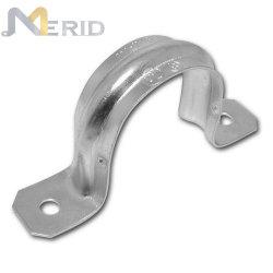 Custom pesado de acero correa de tubo rígido con 2 orificios