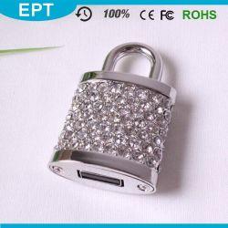 結婚祝いロックの形水晶USBのフラッシュ駆動機構