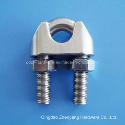 ステンレス鋼DIN 741 Galv可鍛性ワイヤーロープクリップ高品質の磨かれた表面