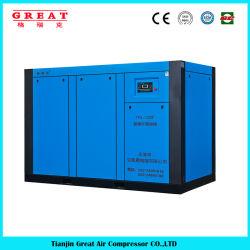 Usine de haute qualité d'alimentation et abaisser le prix de 5,5 kw-630kw moins stationnaire d'huile entraînée par prise directe de l'industrie de l'air à double vis compresseur rotatif