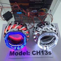 35W bi-xénon HID objectif du projecteur Angel Eyes Lumière pour voiture/moto