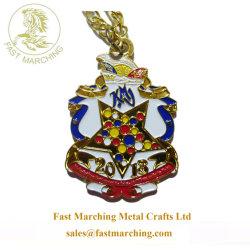 Medaglia di pavimento personalizzata nastro Stella Marble Mosaico metallo Medallion