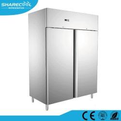 acier inoxydable cuisine commerciale Auto-Defrost Réfrigérateur avec deux portes