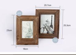 Bilderrahmen, Bilderrahmen, aus Massivholz Display für Table Top Display und Wandmontage Bilderrahmen