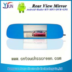 Rear View Mirror 5.0 Inch Navigation Capacitive Touch Screen를 위해