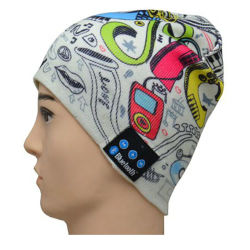 Горячая продажа трикотажные Beanie наушники Bluetooth Red Hat