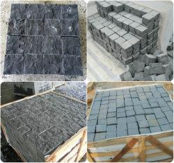 Le basalte noir naturel/Ardoise/dégringolé/grès et de la chaussée en pierre de granit Porphyr// Cubes/blind/finisseur Stone/Paving Stone