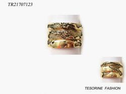 cadeau de promotion Mode bijoux plaqué or Ring Set