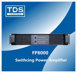 مضخم صوت مبدّل ثنائي القناة Fp8000 لأداء عالٍ للصوت المعدات