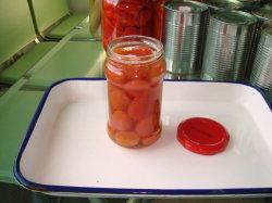 Консервированные без кожуры помидор черри в воде