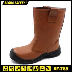 Seguridad de corte alto en la rodilla botas de trabajo para la industria del gas de petróleo