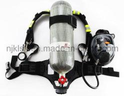 Respiratore dell'attrezzatura antincendio En137 con i respiratori portatili Scba del serbatoio della fibra del carbonio di 6.8L 9L