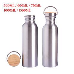 Geïsoleerdee Flessen 500ml 600ml 750ml 1000ml 1500ml van de Thermosflessen van de Fles van de Fles van het Water van de Sport van het roestvrij staal de Thermische VacuümInox