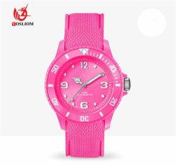 Relógios de quartzo de silício de marca personalizada Mulheres Homens #V483