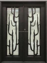 Nova Porta de Entrada de ferro forjado Porta dianteira exterior de porta de metal personalizada
