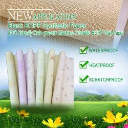 Het witte Synthetische Document van de Kleur pp voor Decoratie (behang & lijstdocument)
