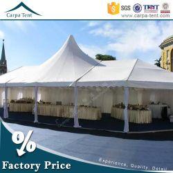 100 شخص، خيمة حفلة على طراز المحافظات الصغيرة بمساحة 850 متر مربع، مع أرضية خشبية