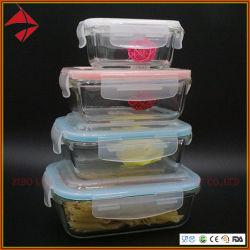 Container van de Opslag van het Voedsel van het Glas van de Container van het Glas van de maaltijd Prep met Deksels